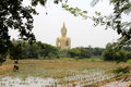 Huge buddha statue the in wat muang thailand Royalty Free Stock Photography