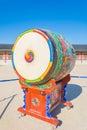 Huge ceremonial drum Royalty Free Stock Photo