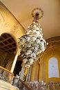 Huge chandelier in old history building Casino Stock Photography