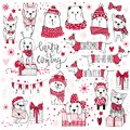 A huge Christmas collection with cute dogs, bears, gifts, snowfl