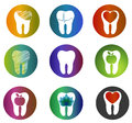 Huge collection beautiful dental symbols various bright colors and designs tooth health care concept teeth treatment and Stock Photo