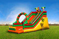 Huge colorful inflatable slide on the playground Royalty Free Stock Photo