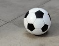 Huge concrete soccer ball super size larger than life Royalty Free Stock Photography