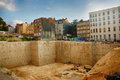 Huge construction site in brussels belgium Royalty Free Stock Photography