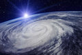 Huge Cyclone Due to the Global Warming Royalty Free Stock Photo