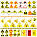 Huge danger symbol icon collection Stock Photo