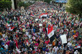 Huge demostrations against president morsi in egypt alexandria june egyptians demonstrate Royalty Free Stock Photos