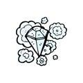 huge diamond cartoon Royalty Free Stock Photo