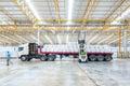 Huge distribution shipping warehouse Royalty Free Stock Photo