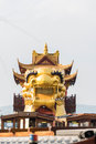 The huge dragon gaily-painted pleasure-boat Royalty Free Stock Photo
