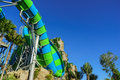 Huge and Exiting Jungle Water Tube Slide Royalty Free Stock Photo