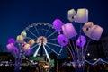 Huge Ferris wheel in Brussels Royalty Free Stock Photo
