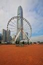 The huge ferris wheel Royalty Free Stock Photo