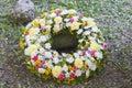 Huge funeral wreath