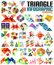 Huge geometric shape infographic template set triangles squares abstract shapes for banners business backgrounds presentations Stock Images