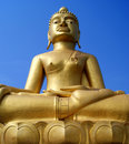 Huge golden Buddha Statue. Royalty Free Stock Photo