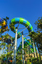 Huge Jungle Water Tube Slide Royalty Free Stock Photo