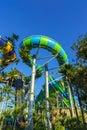 Huge Jungle Water Tube Slide Royalty Free Stock Photo