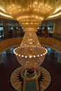 The huge magnificent crystal chandelier Royalty Free Stock Photo