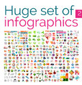 Huge mega set of infographic templates Royalty Free Stock Photo