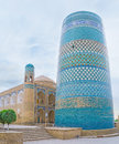 The huge minaret kalta minor is symbol of khiva and one of most recognizible sites of uzbekistan Royalty Free Stock Photos