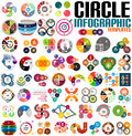 Huge modern circle infographic design template set for banners business backgrounds presentations Stock Photography