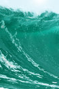 Huge ocean wave water abstract background concept with copy space Stock Image