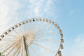 Huge, Permanent Ferris Wheel with Glass Walled Gondolas Royalty Free Stock Photo
