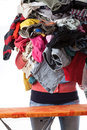 Huge pile of clothes Royalty Free Stock Photo