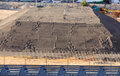 Huge Pile of Sand as Building Foundation Royalty Free Stock Photo