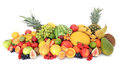 Huge pile of various fruits Stock Photo