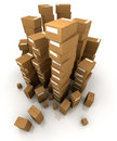 Huge piles of cardboard boxes Stock Photo