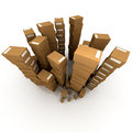 Huge piles of cardboard boxes Royalty Free Stock Photo