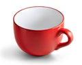 Huge red mug. Royalty Free Stock Photo