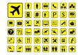 Huge Set of Airport icons or Signs