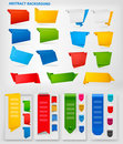 Huge set of colorful origami paper banners. Vector Royalty Free Stock Photography