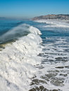 Huge waves on the Pacific Coast Stock Images