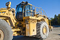 Huge wheel loader on brekke quarries Royalty Free Stock Photography