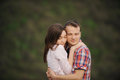 Hugging Couple Royalty Free Stock Images