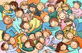 Hugging cuddling people group of people on a cuddle party may symbolize s need for connection touch kindness and love big Stock Image