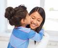Hugging mother and daughter Royalty Free Stock Images