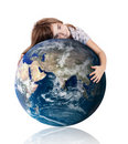 Hugging our world Royalty Free Stock Photo