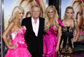 Hugh hefner holly madison bridget marquardt and kendra wilkinson at the los angeles premiere of house bunny held at the mann Royalty Free Stock Photo