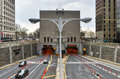 Hugh l carey brooklyn battery tunnel new york april the formerly called the in new york city ny the bridges Stock Photography