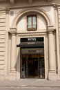 Hugo boss store florence italy june boutique at piazza della repubblica ag is a german luxury fashion and style house june Stock Image