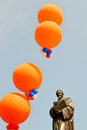 Hugo grotius netherlands delft april was decorated with balloons on queens day in delft Royalty Free Stock Photos