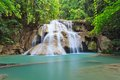 Hui mae kamin waterfall in national park kanchanaburi thailand Stock Photo