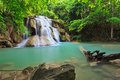 Hui mae kamin waterfall in national park kanchanaburi thailand Royalty Free Stock Photo
