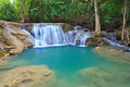 Hui mae kamin waterfall in national park kanchanaburi thailand Stock Image