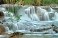 Hui Mea Khamin Waterfall, Kanchanabury, Thailand Stock Photo